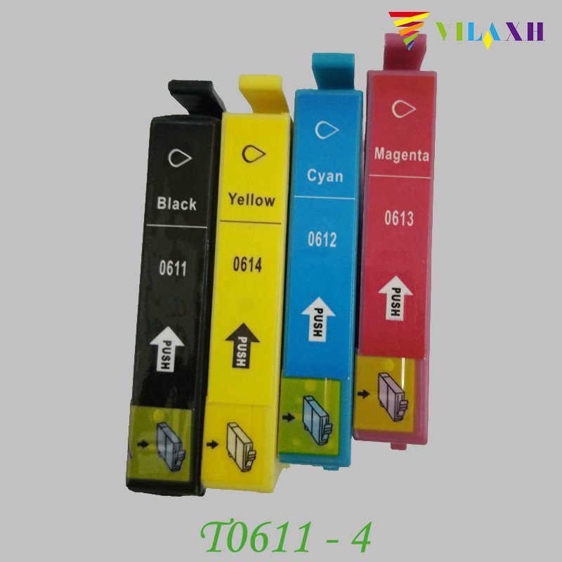 vilaxh T0611 T0614 Ink Cartridge For Epson T0611 Stylus D68 D88 DX3800 DX3850 DX4800 DX4850 Printer in Ink Cartridges from Computer Office