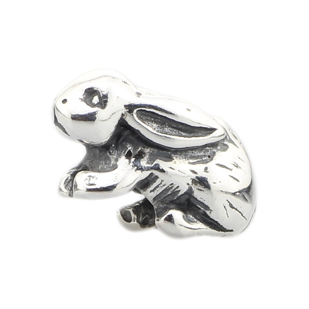 Jewelry Genuine 925 Sterling Silver Animal Rabbit Charm Bead Fits European Brand Troll Bracelet Necklace Gift все цены