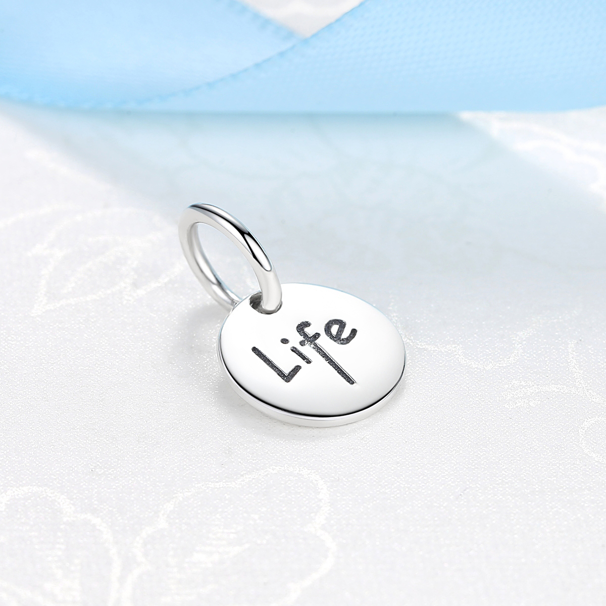 Authentic 925 Sterling Silver Bead Life Familry Friendship Hanging Charm Fit Original Pandora Bracelets DIY Charms Jewelry