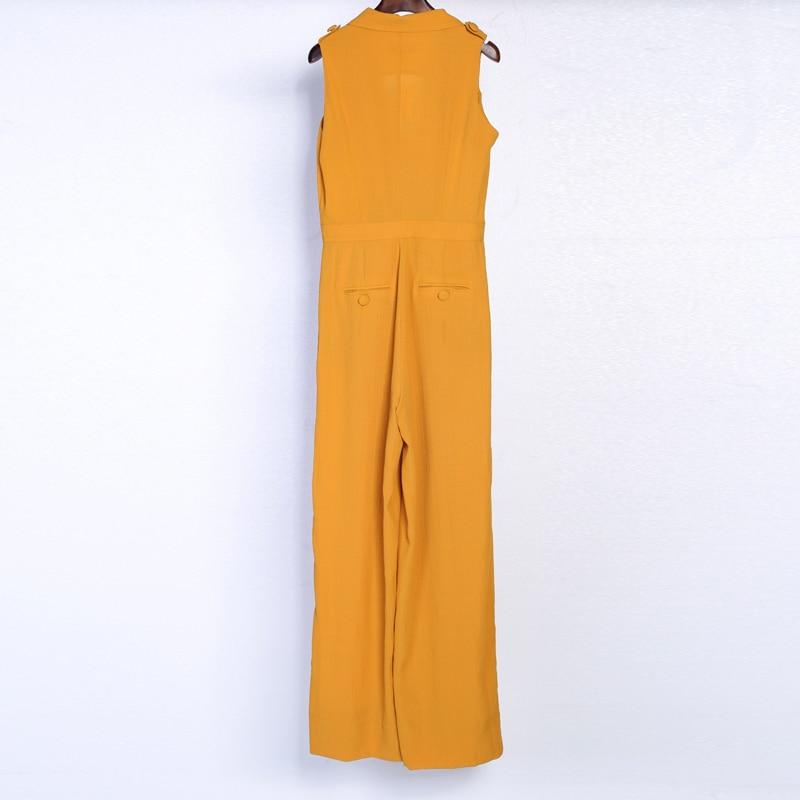 67e20156ff8e HIGH QUALITY New Fashion 2017 Designer Jumpsuit Women s Sleeveless Notched  Collar Wide Leg Jumpsuit-in Jumpsuits from Women s Clothing on  Aliexpress.com ...