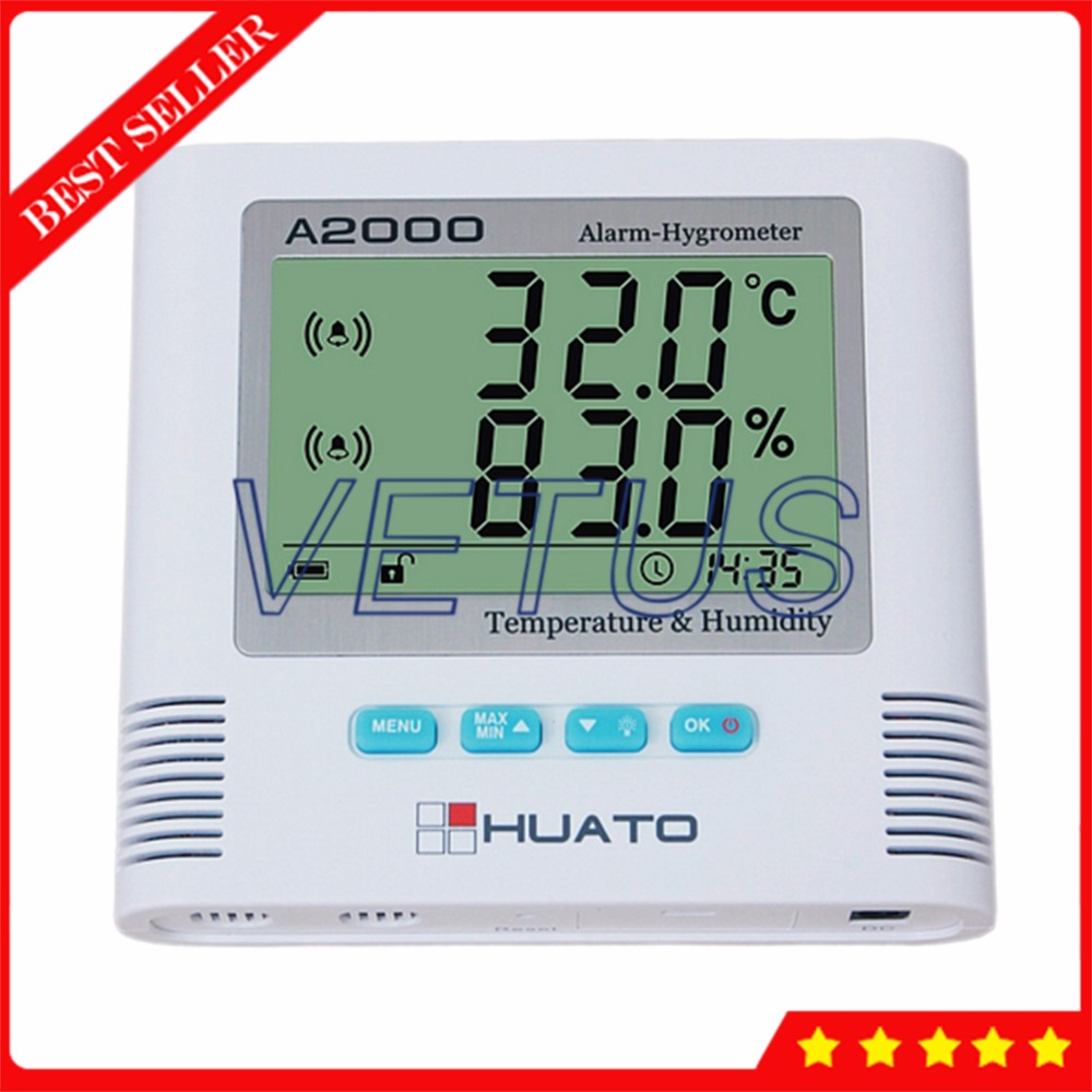 LCD Digital Thermometer Hygrometer with A2000 TS Thermostat Indoor Household Temperature Humidity Meter Gauge Internal Sensor