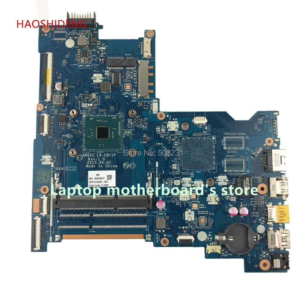 HAOSHIDENG 815249-601 815249-501 ABQ52 LA-C811P for HP NOTEBOOK 15-AC 15-AC158NR laptop motherboard with PenN3700 fully Tested nokotion original 815249 501 815249 001 laptop motherboard for hp 15 ac cpu abq52 la c811p mainboard works