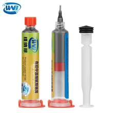 WNB 10cc Syringe Liquid Flux Soldering Paste 35g Leaded Stencil Welding Tool Low Temperature Melting Point 183C Tin Solder Paste(China)