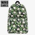 Macacos engraçados erva daninha impressão backpack women who cares nova mochila mochila de lona sacos de escola para adolescentes meninas sac um dos mochilas