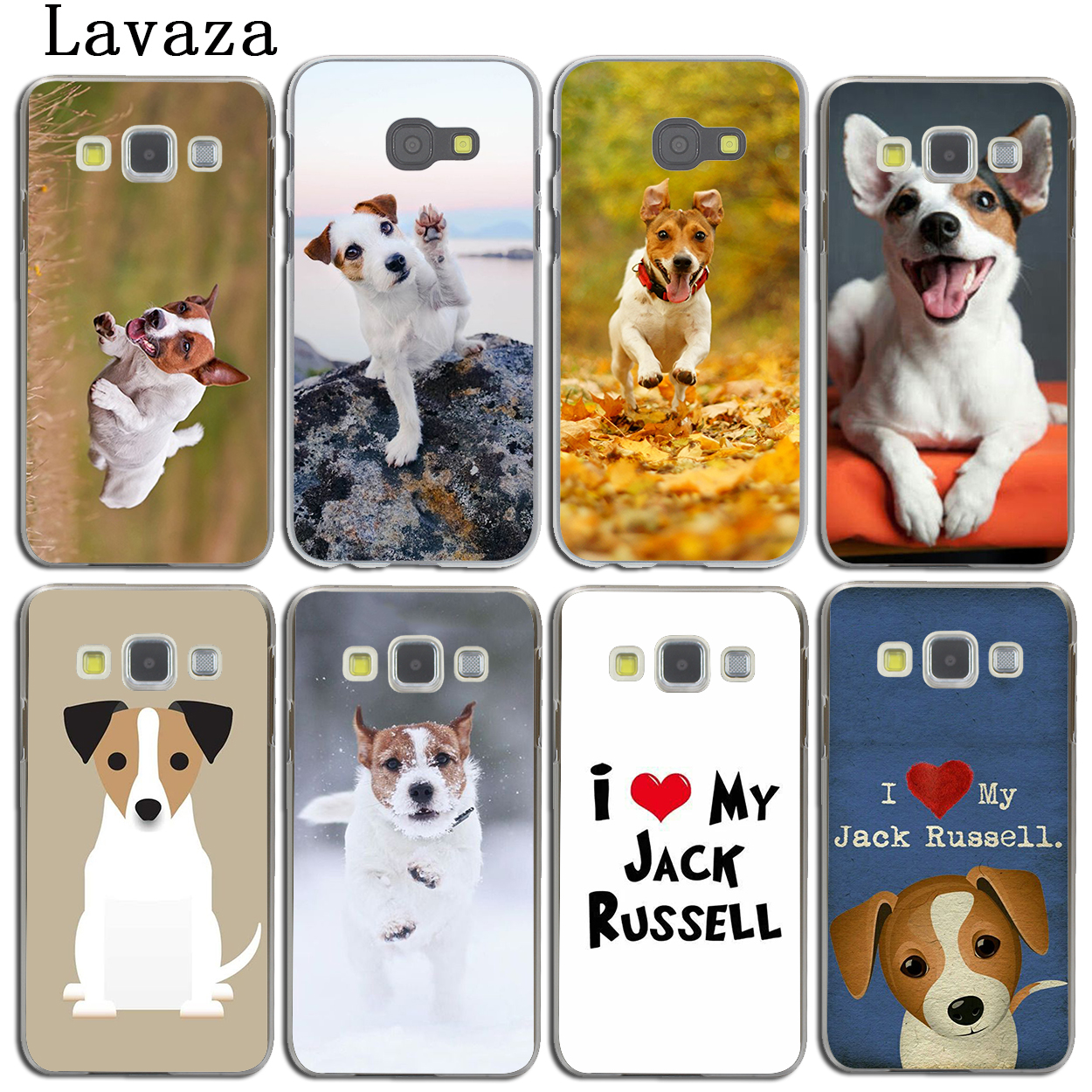 Lavaza Jack Russell Terrier <font><b>Dog</b></font> <font><b>Phone</b></font> Shell <font><b>Case</b></font> for <font><b>Samsung</b></font> <font><b>Galaxy</b></font> Note 10 8 9 A9 A8 A7 A6 Plus 2018 A2 <font><b>A3</b></font> A5 <font><b>2017</b></font> 2016 2015 image