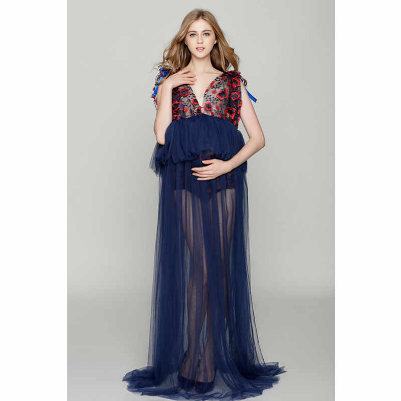 ec9c3141cc554 Detail Feedback Questions about Sexy V Neck Sheer Mesh Maternity ...