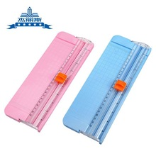 Portable Mini Scrapbooking Paper Trimmer Cutters Guillotine with Pull-out Ruler for Photo Labels Paper Cuttin