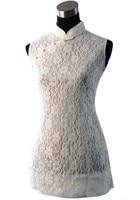 Fashion White Chinese Women S Clothing Cotton Lace Blouses Shirt Tops Size S M L XL