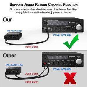 Image 3 - 4 k 60 hz hdmi áudio extrator 5.1 arco hdmi áudio extrator divisor hdmi para áudio extrator óptico toslink spdif + 3.5mm estéreo