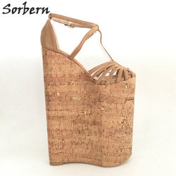 Sorbern Extreme High Heels Luxury Shoes Women Designers Summer Sandals For Women Wedges Platform Customized Large Size 33-46 5