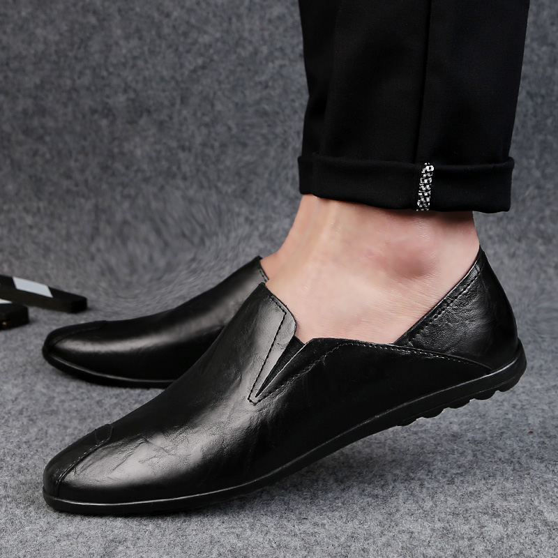 2018 new men's casual shoes loafers men platform breathable four - Men's Shoes - Photo 2