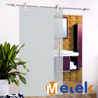 6.6FT SS304 stainless steel sliding glass shower door