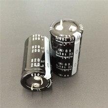 2 قطعة 820 فائق التوهج 200 فولت NICHICON GU Series 25x45 مللي متر عالي الجودة 200V820uF Snap in PSU ألومنيوم مُكثَّف كهربائيًا