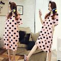 sleeved summer Nightgown  cute Korean loose long serving female pregnant women Home Furnishing summer Nightgown