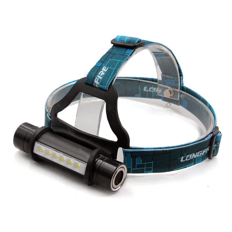 6LED+CREE Q5 2000Lm High power headlamp waterproof 3 modes led head light outdoor camping head band lamp by 18650 or 3 x AAA
