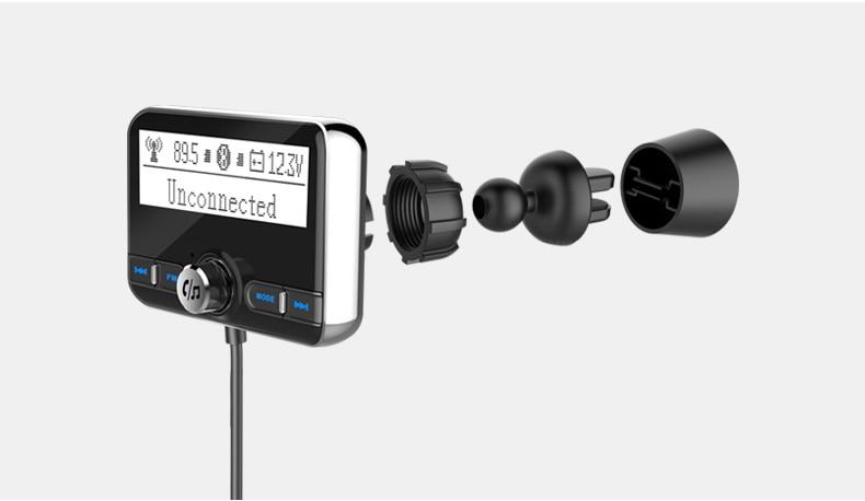 Transmisor fm Jilang, con dos salidas para cargar dispositivos