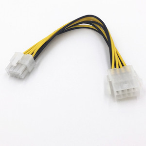 Image 3 - 8 pin ATX 12 V CPU EPS P4 Güç Uzatma Kablosu 8pin 18 cm Uzatın kablo tel 18AWG Güç Kaynağı bitcoin Madenci Madencilik Makinesi