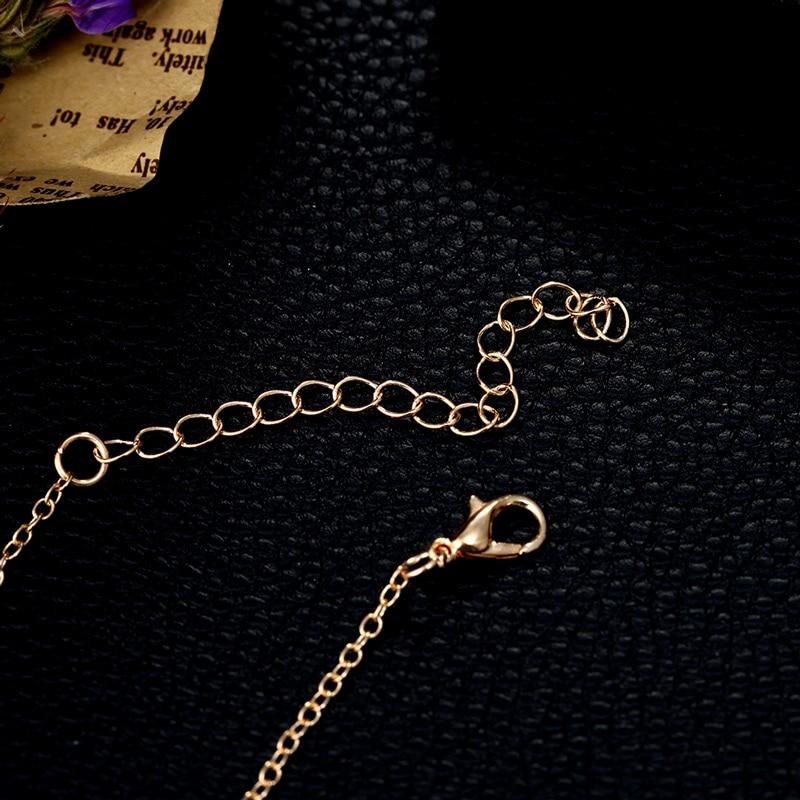 2019 Fashion Women's Bracelets Gold Colour Adjustable Metal Letters Romantic Round Bracelet Lovers Gift Party Jewelry Wholesale 5