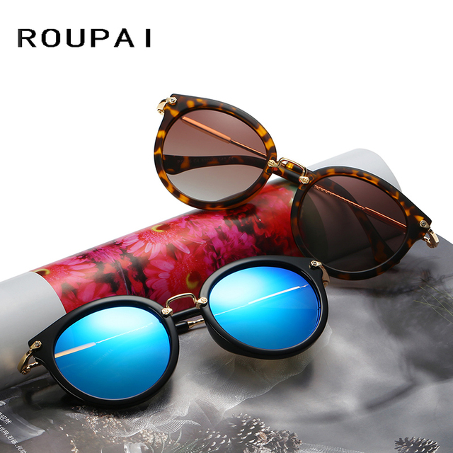 Top Quality Polarized Sun Glasses Spectacles UV400 Mirror Lens Cat Eye Alloy Eyeglasses with Original Case Sunglasses for Women