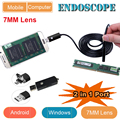 2 in 1 Android & PC Endoscope USB Inspection Camera  7MM Dia 6LED& Accessories Waterproof Inspection Borescope Camera