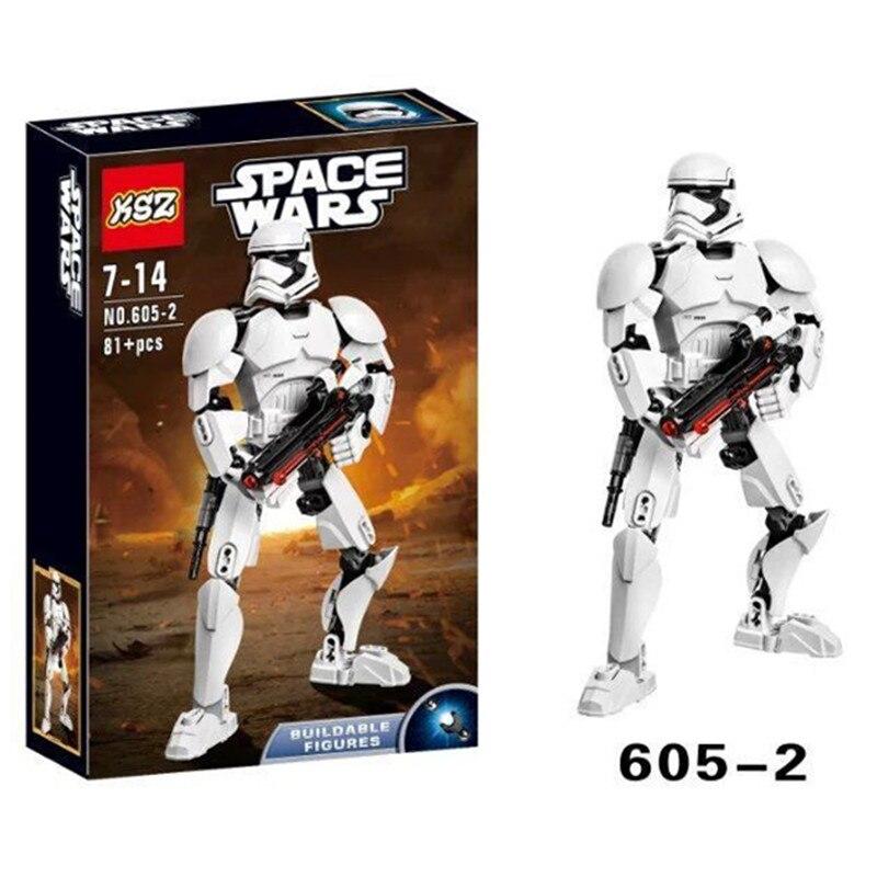 XSZ 605 2 Star Wars Series Storm Soldier Clone Troopers Building Block Minifigure Toys font b