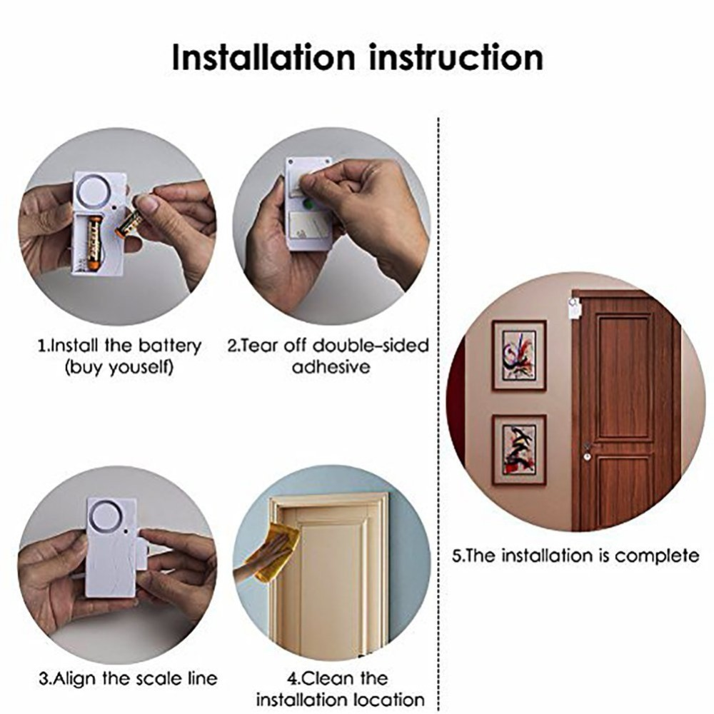 Image 5 - Wireless Home Window Door Burglar Security  Sensor Alarm System Magnetic Sensor for Home Security System Standalone Magnetic-in Sensor & Detector from Security & Protection