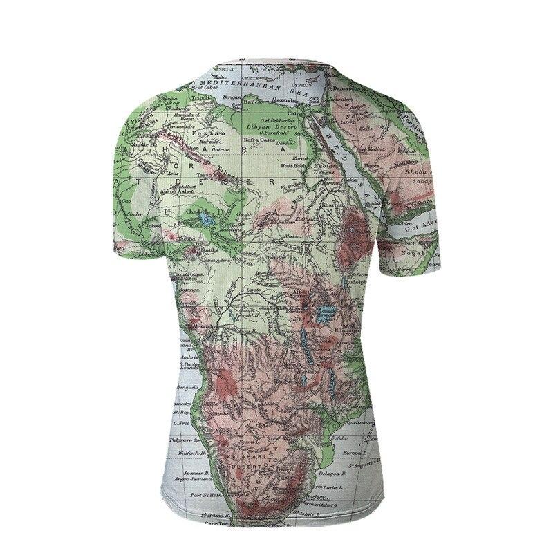 FORUDESIGNS Cool 3D T Shirt Men Women Top Tees World Map Pattern Tee