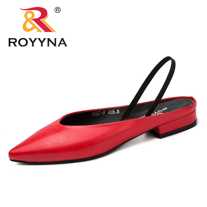 ROYYNA Square Heels Dress-Shoes Women Pumps Pointed-Toe Elegant-Style Comfortable-Light