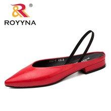 ROYYNA zapatos de tacón cuadrado para mujer, zapatillas femeninas de punta estrecha, cómodas y ligeras, envío gratis