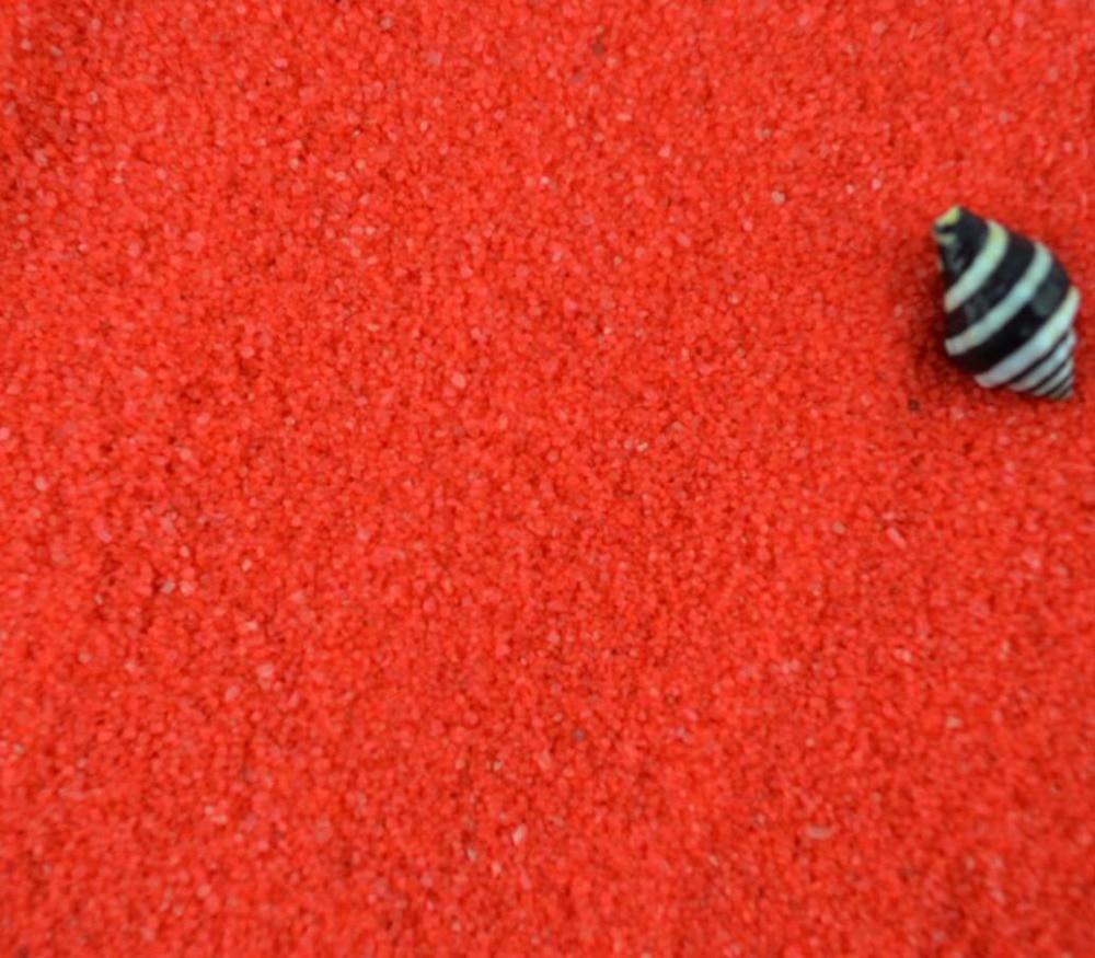 1 кг красный речного песка для фантазии миниатюры Фея Садовый Гном Moss Террариум декора ...