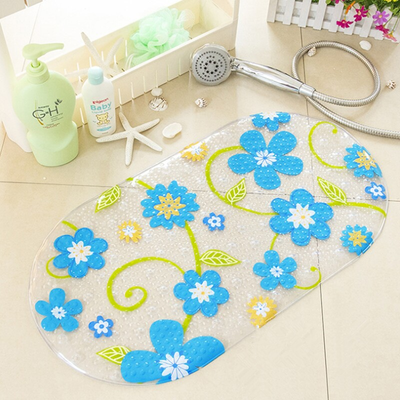 High Quality Colorful Floral Dots PVC Non Slip Bath Mat Bathtub Mat ...