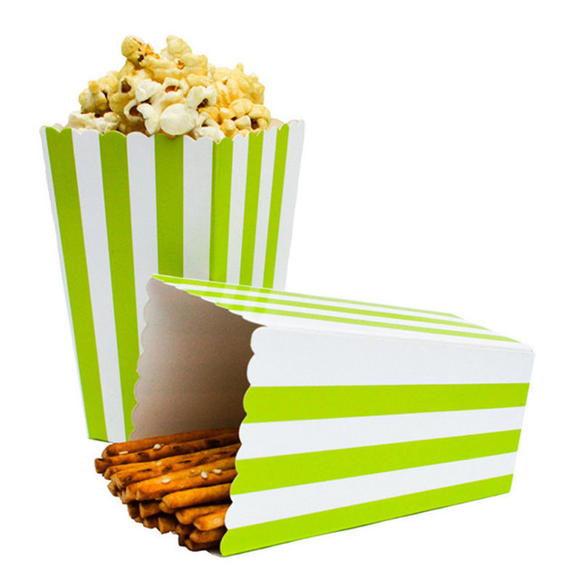 12 Teile Los Streifen Popcornbecher Geburtstag Party Dekoration