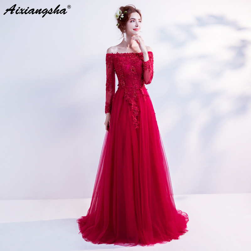 Cheap 3 4 Sleeve Wedding Dresses: Aliexpress.com : Buy Cheap Long Red Prom Dresses 2018 Lace