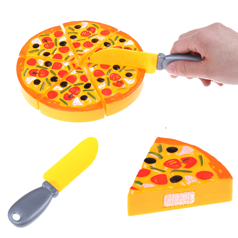 Diligent 6pcs/set Dollhouse Miniatures Kitchen Pizza Party Fast Food Slices Cutting Pretend Play Food Toy Set Kitchen Children Kids Toys To Have Both The Quality Of Tenacity And Hardness Kitchen Toys