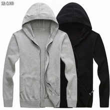 Sea Cloud Free shipping Plus size Autumn men's clothing sweater male with hood cardigan outerwear military men sweater male 6XL