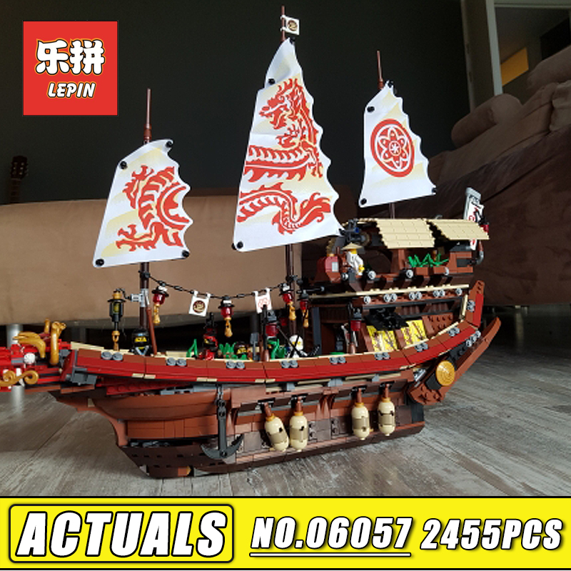 Lepin Movie 06057 Ninja Pirates of the Caribbean Ship Final Fight of Destiny Bounty Set Model Building Blocks Bricks Kids Toys lepin 16009 caribbean blackbeard queen anne s revenge mini bricks set sale pirates of the building blocks toys for kids gift