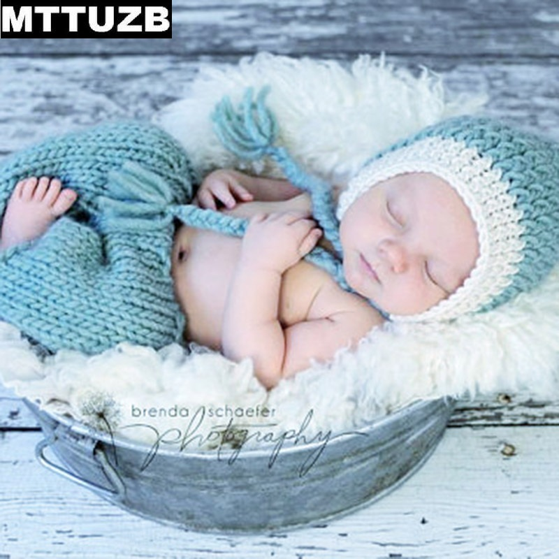 MTTUZB boys girls Photography Props newborn baby Knitted Costume Crochet children photo props for 0-4 month kids accessories hot newborn girls boys baby photography props outfits knit crochet hat tie pants costume set gifts high quality