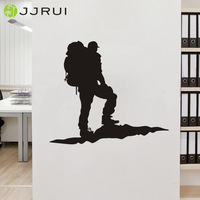 JJRUI Wall Stickers Vinyl Decal Rock Climber Alpinist Mountains Extreme Sport Art Decor Home Decoration For