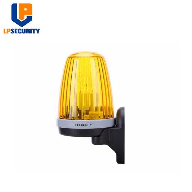 LPSECURITY Signal lampa alarmowa stroboskop migająca awaryjna lampka ostrzegawcza do montażu ściennego do automatycznego otwieracz bramy