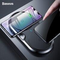 Baseus 10 Вт двойной комплект QI Беспроводной Зарядное устройство для iPhone XS Max Xr X samsung S10 S9 быстро Беспроводной зарядного устройства для подключен...