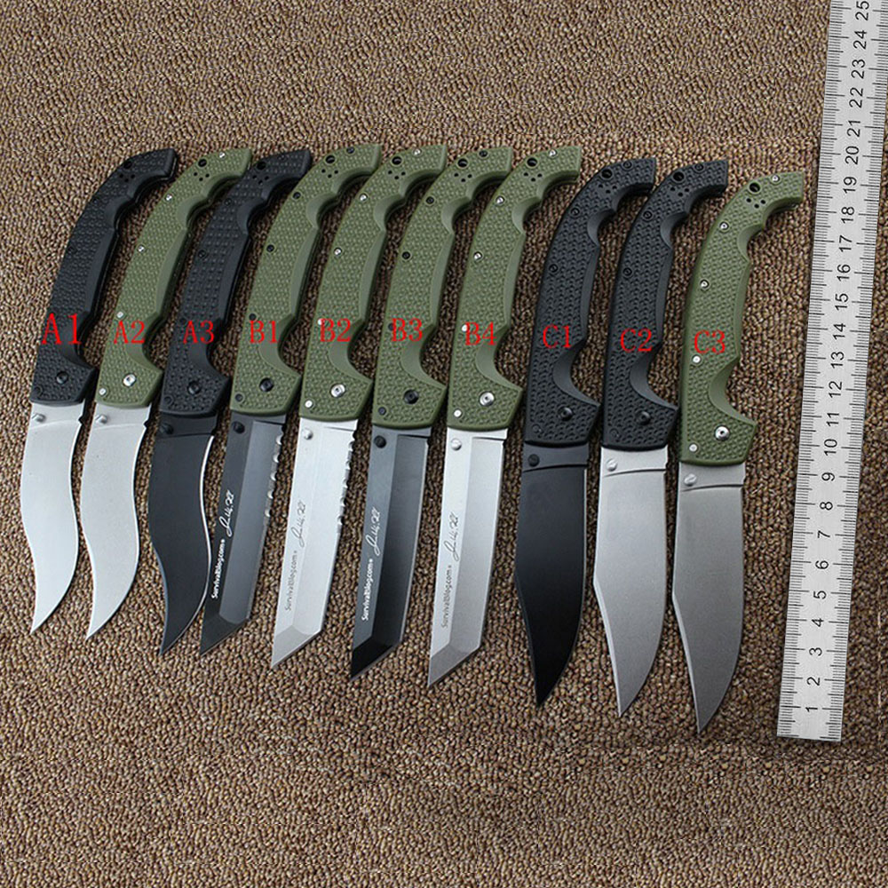 Super Nice 29UXTGH XL Military Tactical Knife 8CR13MOV Blade Folding Knife TANTO Outdoor Pocket Survival Utility EDC Multi Tool multi functional shovel blade glass floor scraper cleaning utility knife red black