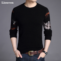 Liseaven Men Pullover Sweaters Casual Pullovers Men's Clothing Full Sleeve Male Sweater