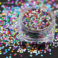 1 caja de 1mm 1.5mm Mixta de Uñas Glitters Multi color Mixs Paillettes Lentejuelas Brillante Del Clavo Del Brillo Del Clavo Del Brillo Del Clavo decoraciones