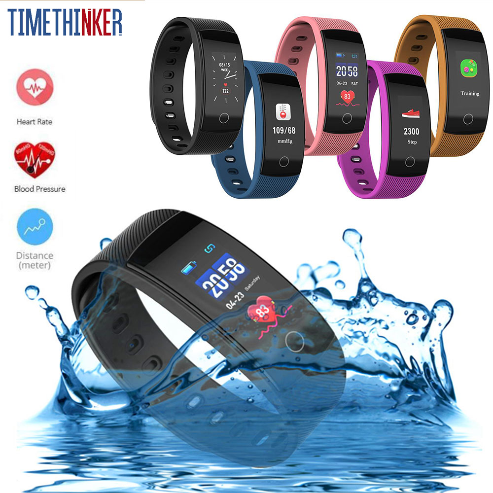 Timethinker Bluetooth Smart Bracelet Fitness Watch Reloj Wristband Blood Pressure Heart Rate Monitor QS80 Plus pk Y5 Smartband
