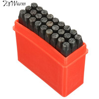 36pcs Set 4mm New Stamps Letters Alphabet Numbers Punch Set Wood Leather Steel Punch Tool Leather