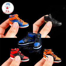 Action Figure Accessoires 1/6 Sneakers Hollow Schoenen Model Voor Man Sport Basketbal Ster Beeldje Poppen(China)