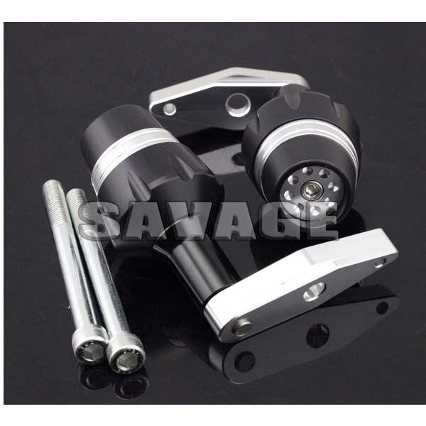 For KAWASAKI ER-6F 2012-2014 New Design Motorcycle Frame Sliders Crash Protector Falling Protection Silver