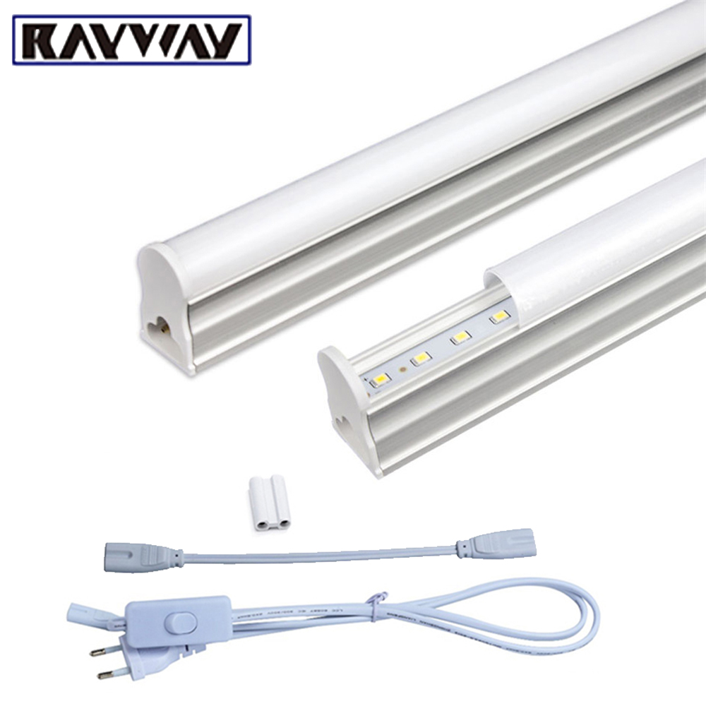 2PCS/Set T5 Led Light Tube AC85-265V 2*5W Wall Lamps 1ft LED T5 Tube Fluorescent Lamp Lights + Connect Cord + Power Switch Cable 2pcs set t5 led light tube ac85 265v 2 5w wall lamps 1ft led t5 tube fluorescent lamp lights connect cord power switch cable