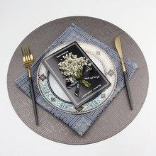 Тканевые Кожаные Салфетки для обеденного стола, коврики из искусственной кожи, устойчивые к пятне моющиеся салфетки