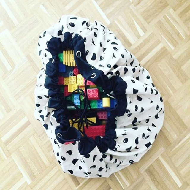 Large Kids Toy Storage Bag with Strings